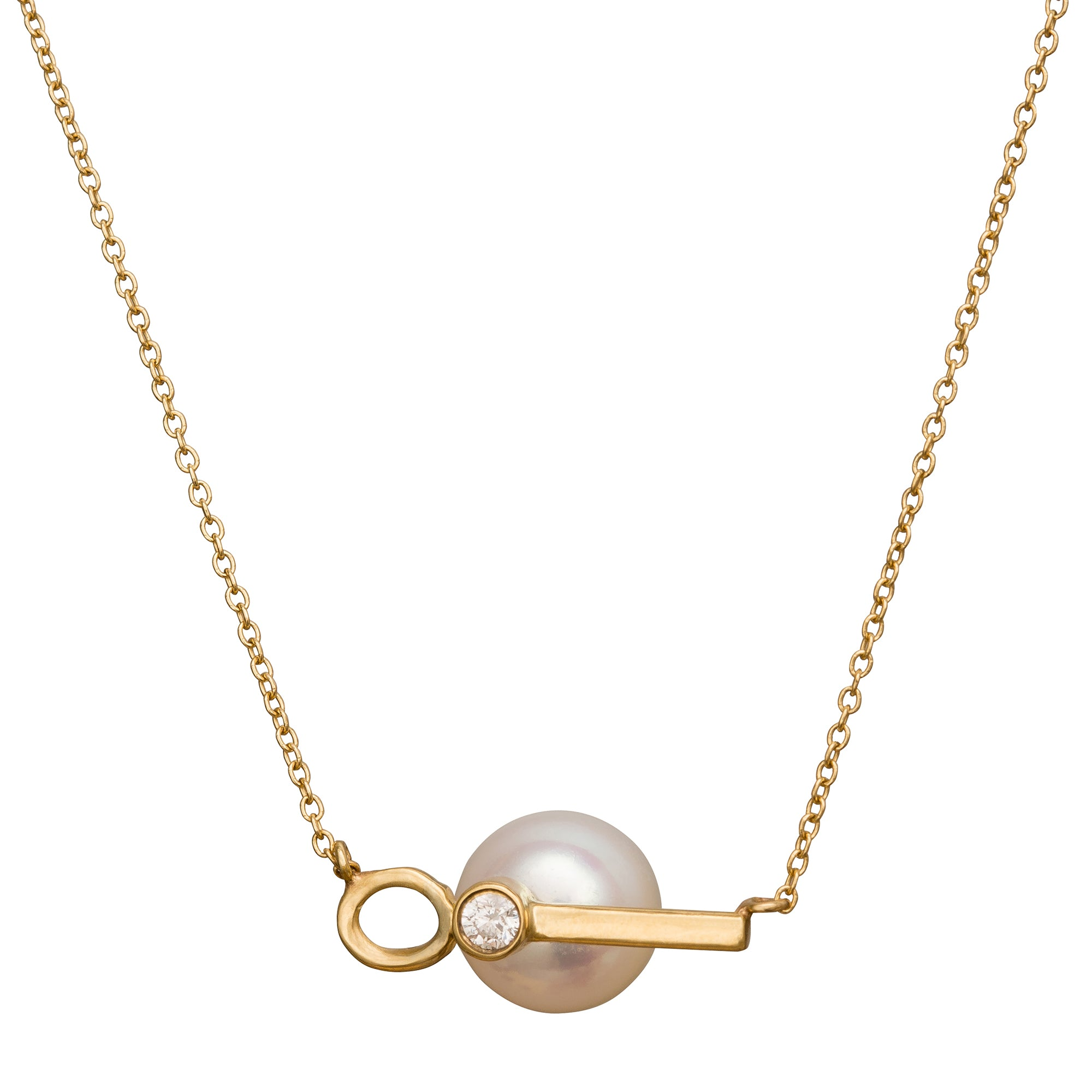 Pearl & Diamond Choker - Necklaces - Katey Walker | Broken English Jewelry