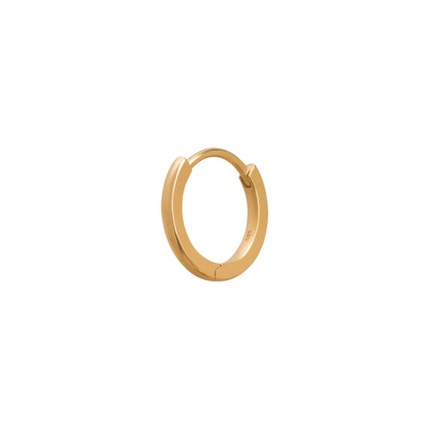 Solid Gold Huggie 9.5mm  - Trouver - Earrings | Broken English Jewelry