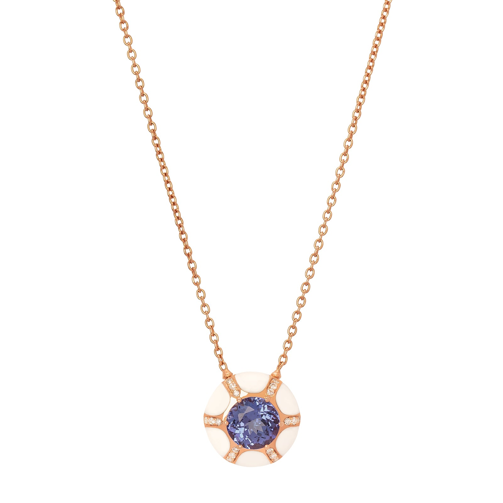 Selim Mouzannar Sea Flowers Pendant Necklace - Tanzanite - Necklaces - Broken English Jewelry