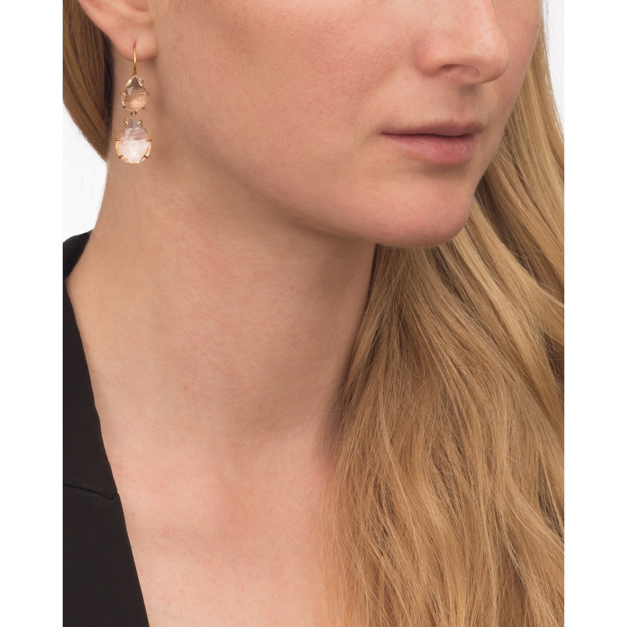 Caterina Large Double Drop Earrings by Larkspur & Hawk for Broken English Jewelry