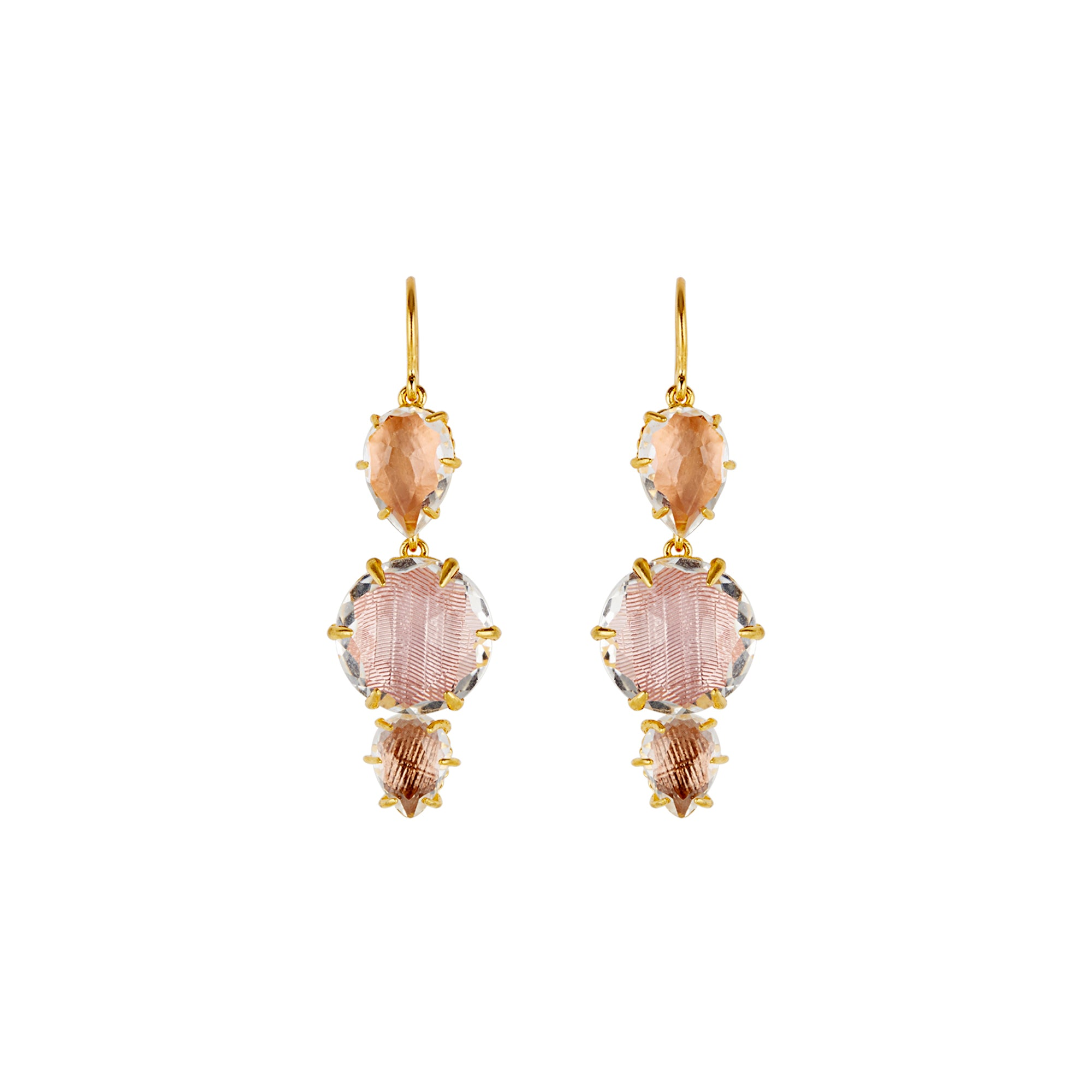 Caterina 3-Drop Earrings by Larkspur & Hawk for Broken English Jewelry