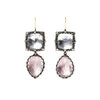 Sadie Cushion & Pear Drop Earrings by Larkspur & Hawk for Broken English Jewelry