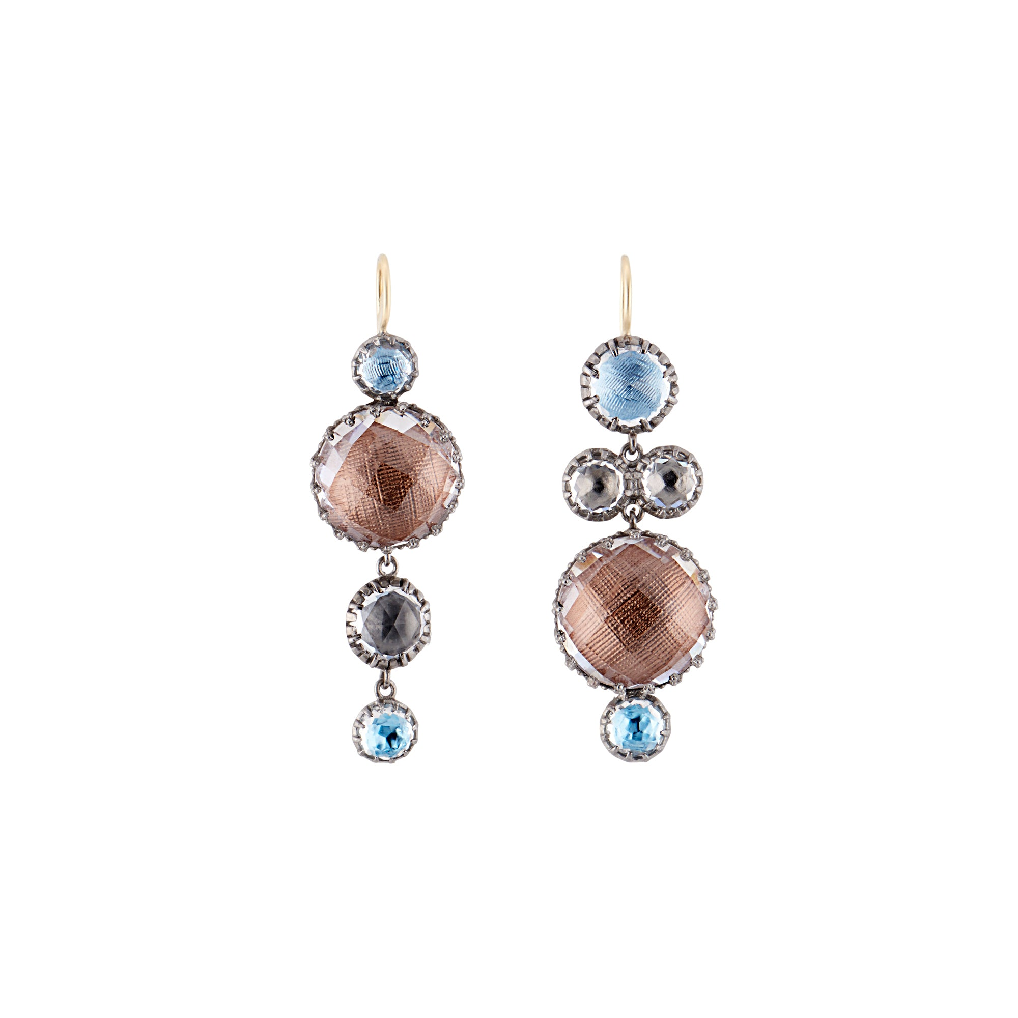Sadie Mis-Matched Bubble 4-Drop Earrings by Larkspur & Hawk for Broken English Jewelry
