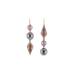 Sadie Mis-Matched Kite 3-Drop Earrings by Larkspur & Hawk for Broken English Jewelry