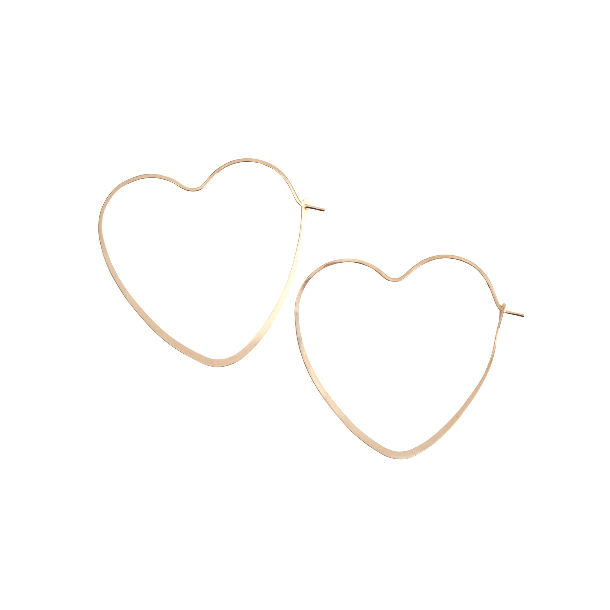 Melissa Joy Manning Heart Shaped Hoops - Gold (L) - Earrings - Broken English Jewelry