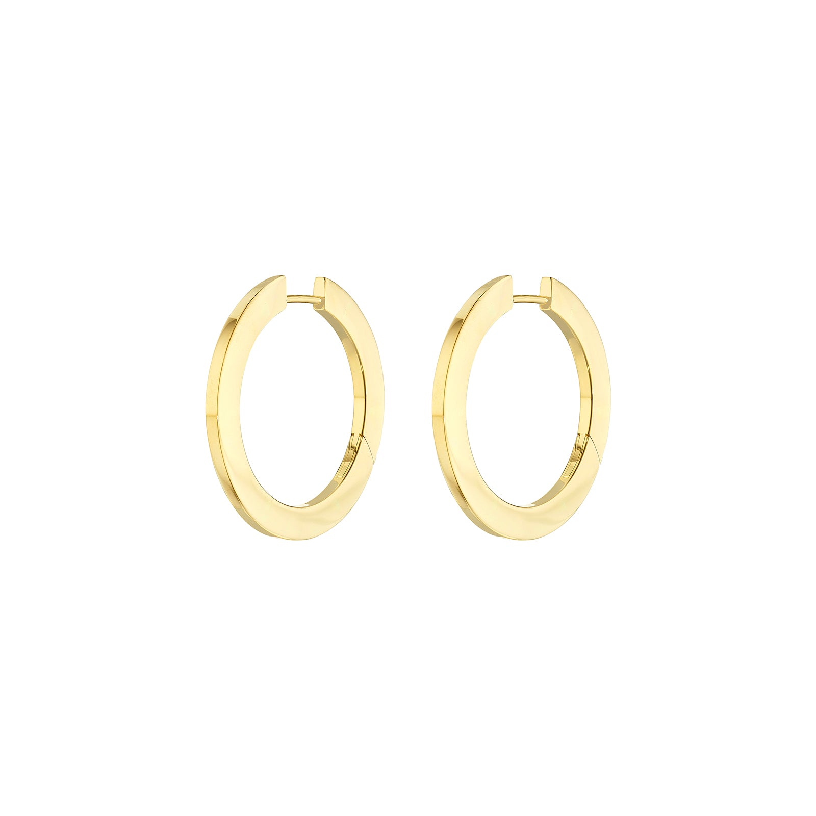 Cadar Plain Hoops - Medium - Earrings - Broken English Jewelry