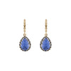 Larkspur & Hawk Lady Jane Small Pear Drop Huggie - Cobalt - Earrings - Broken English Jewelry