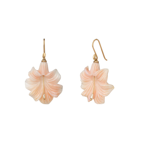 Pink Conch Lily Earrings