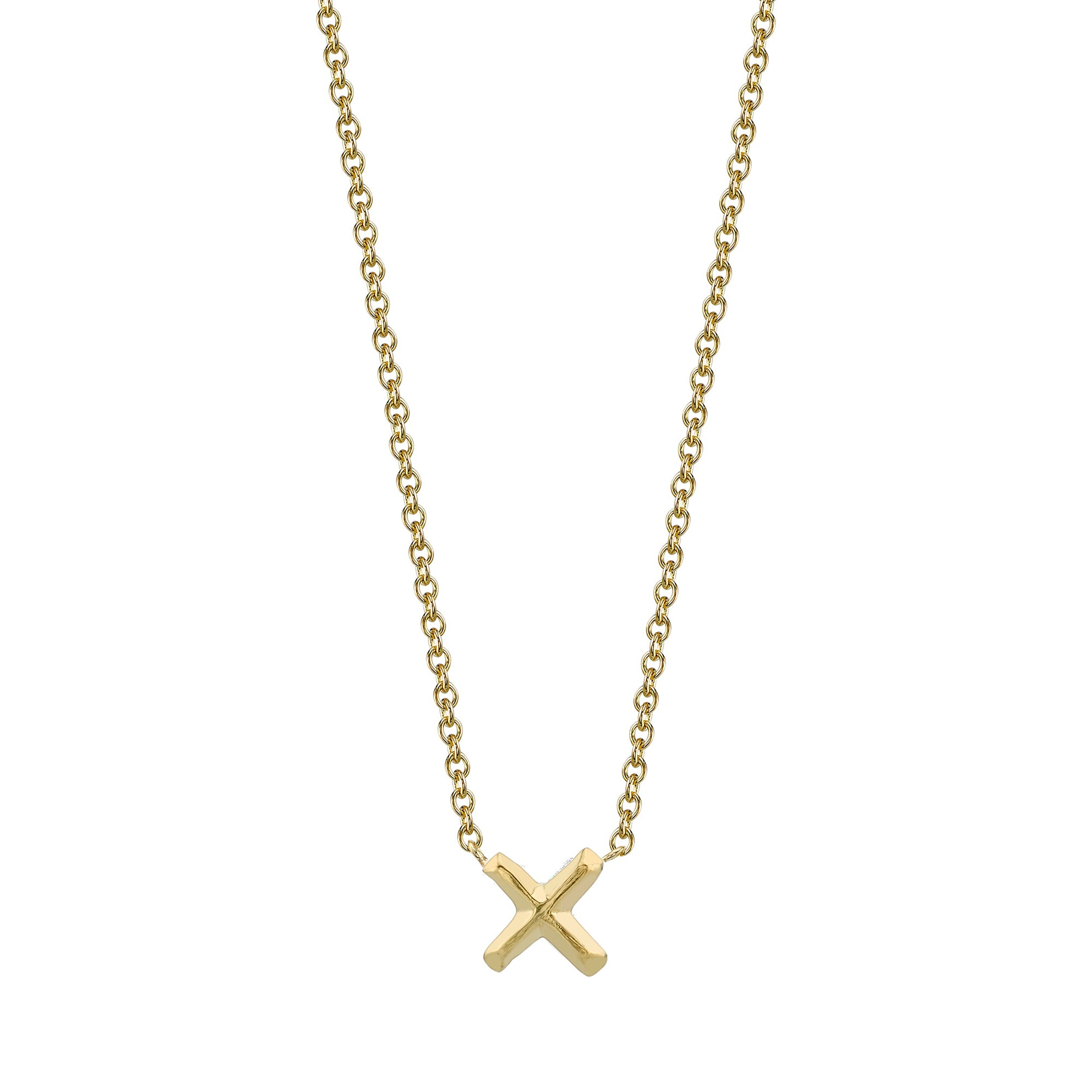 X Necklace by Lizzie Mandler for Broken English Jewelry