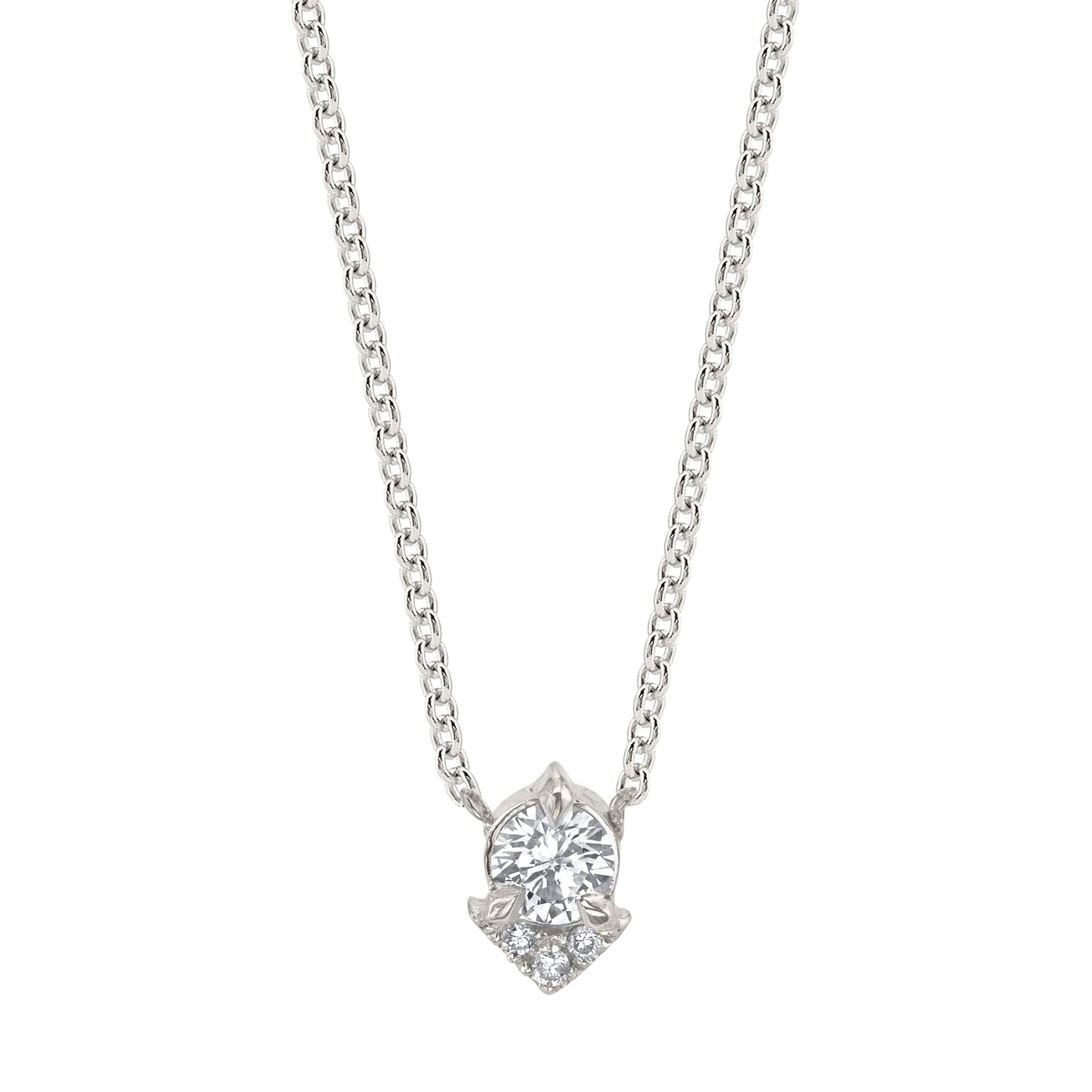 Diamond Spike Necklace by Lizzie Mandler for Broken English Jewelry