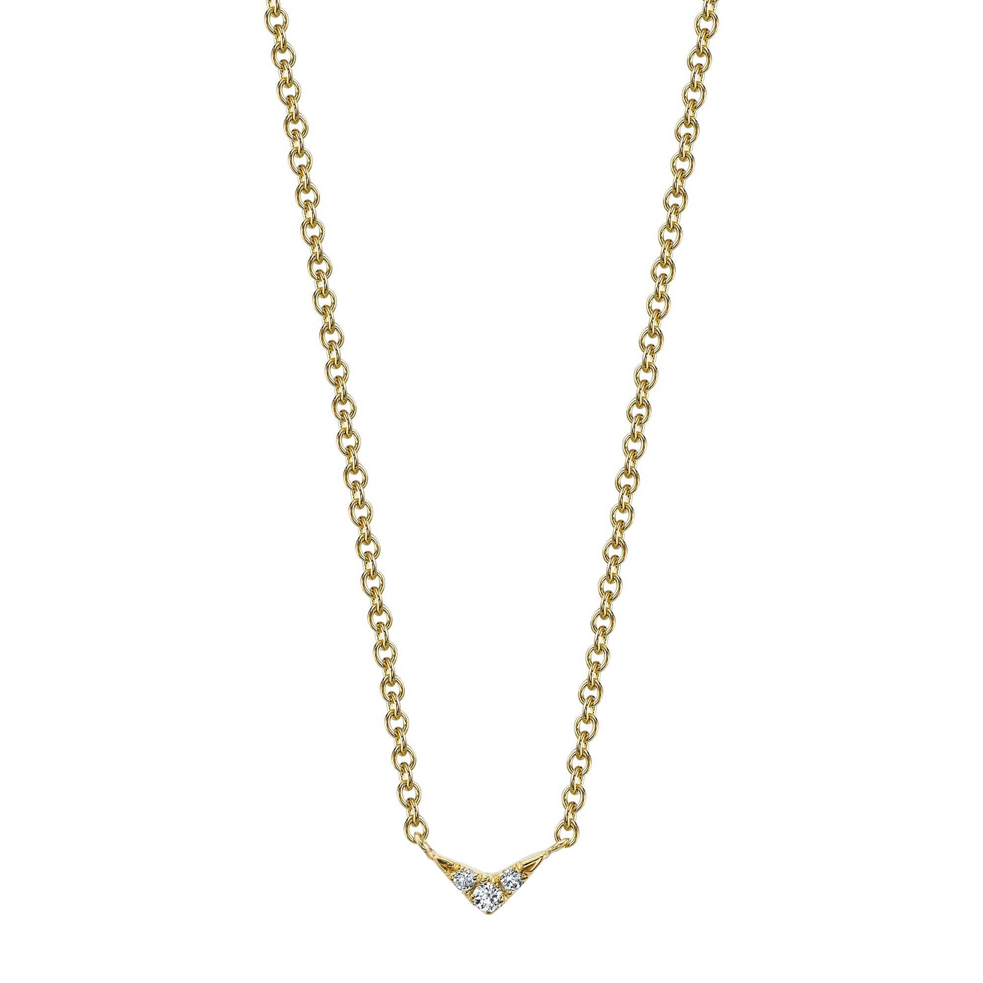 V Necklace by Lizzie Mandler for Broken English Jewelry