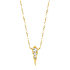 Diamond Kite Necklace by Lizzie Mandler for Broken English Jewelry