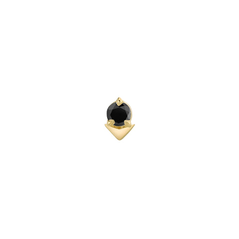 Black Diamond Spike Stud by Lizzie Mandler for Broken English Jewelry