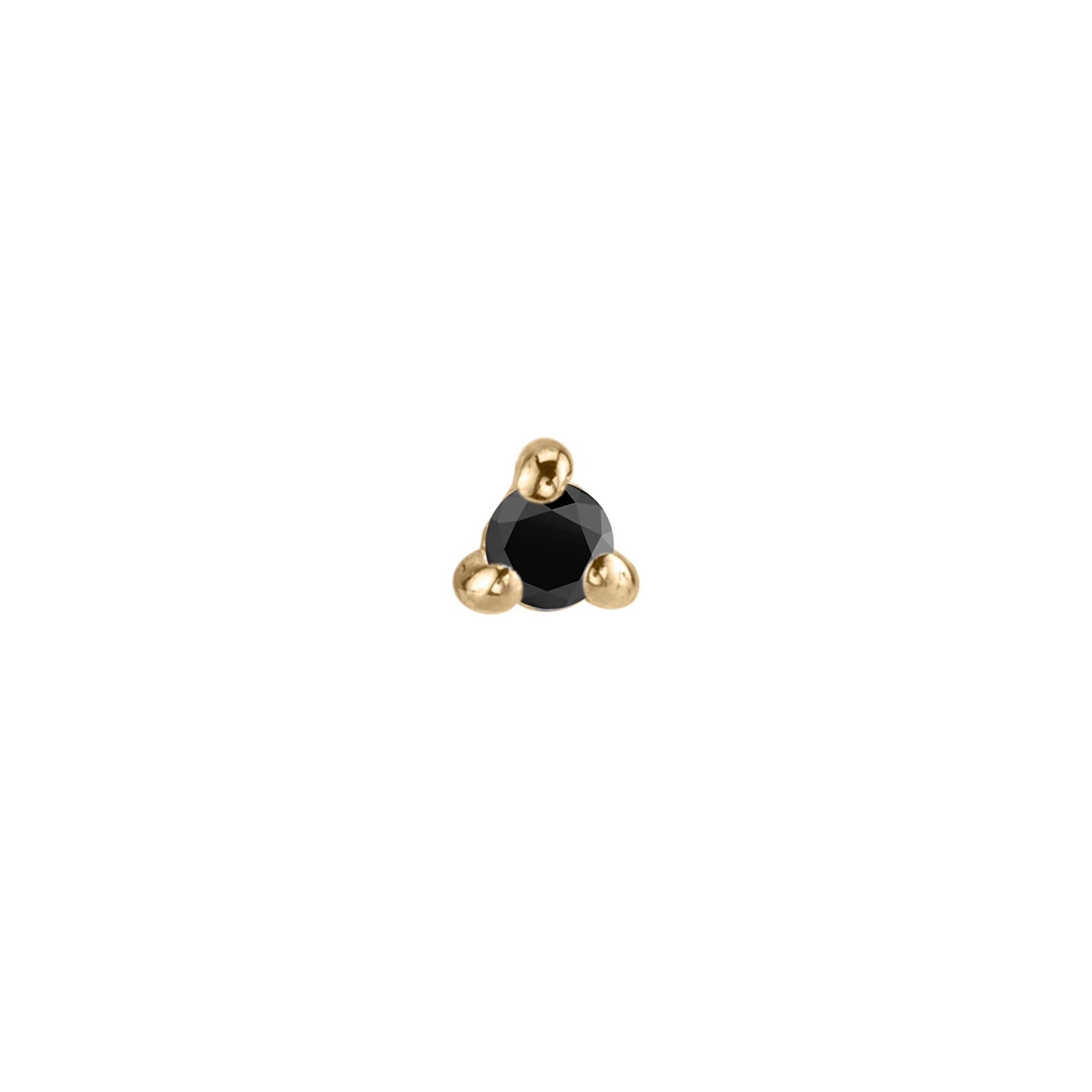 Black Diamond Mini Stud by Lizzie Mandler for Broken English Jewelry