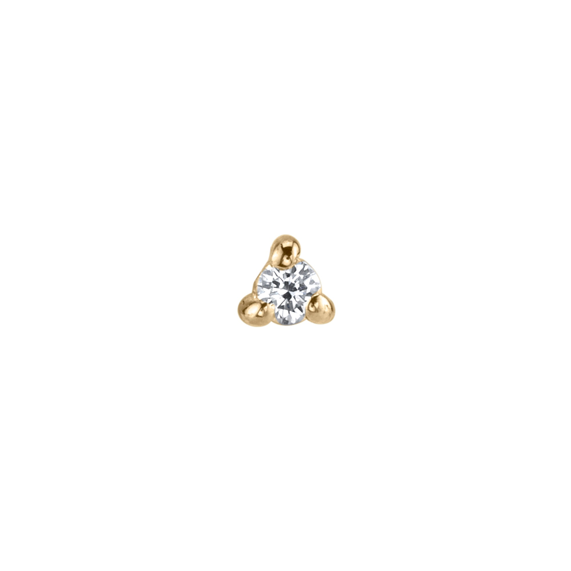 Diamond Mini Stud by Lizzie Mandler for Broken English Jewelry