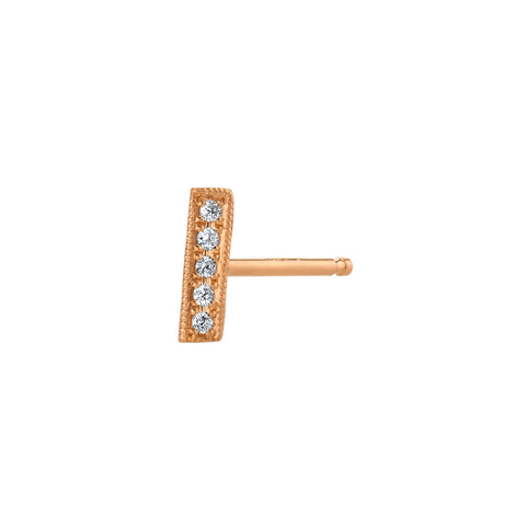 Knife Bar Stud by Lizzie Mandler for Broken English Jewelry