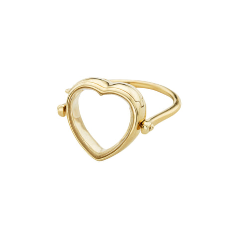 Medium Heart Locket Ring