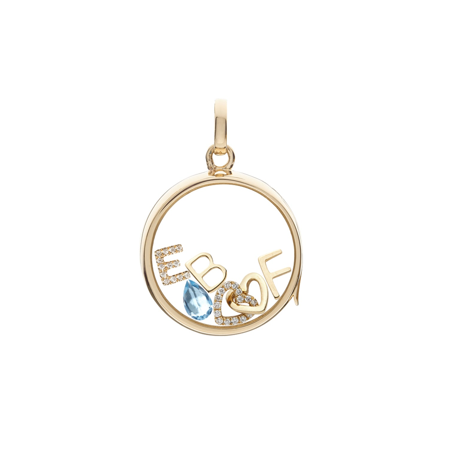 Gold Letter F Charm