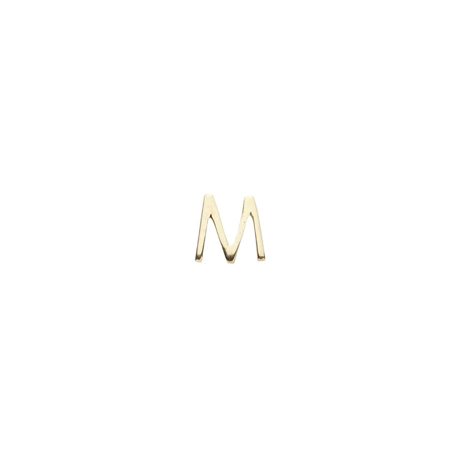 Gold Letter M Charm
