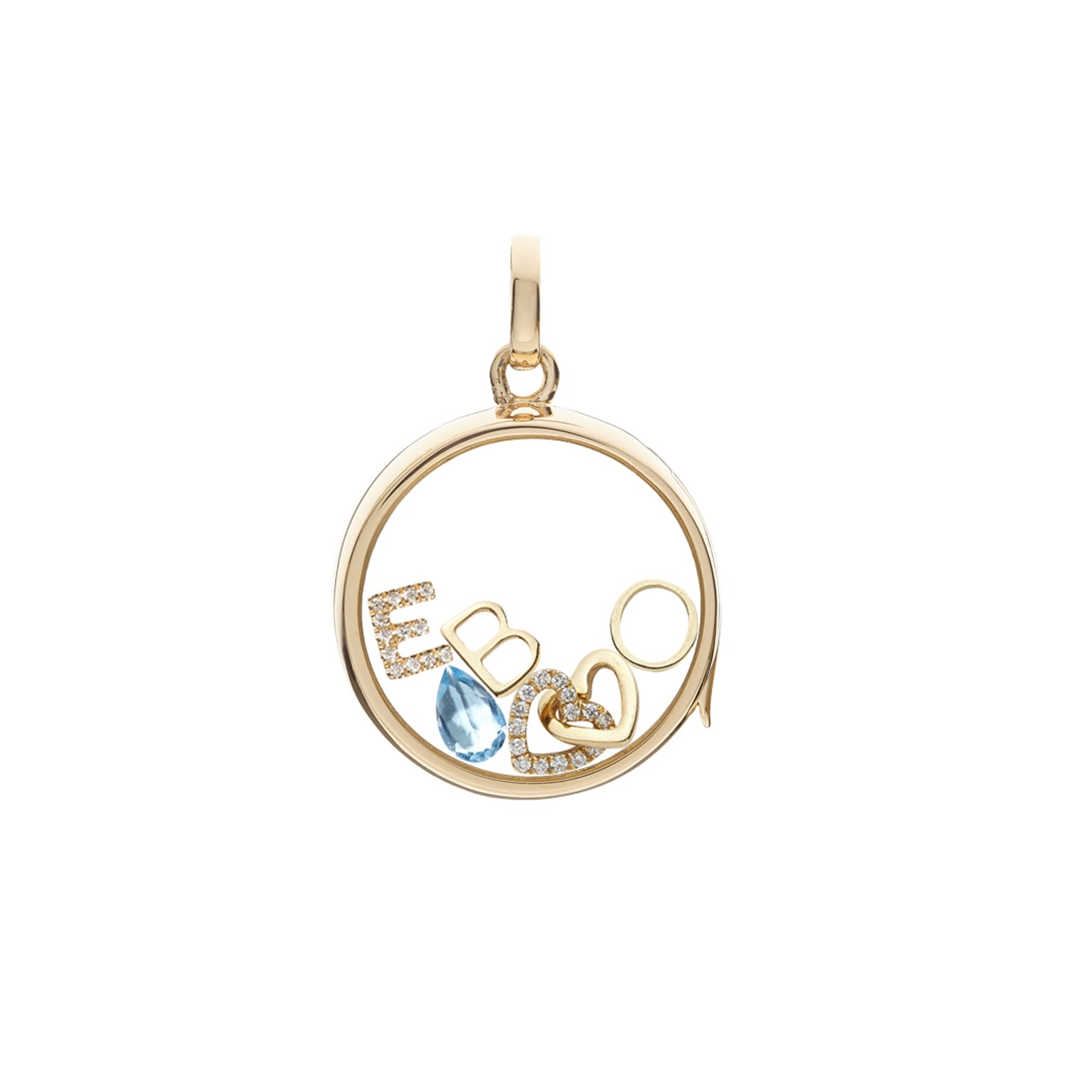 Gold Letter O Charm