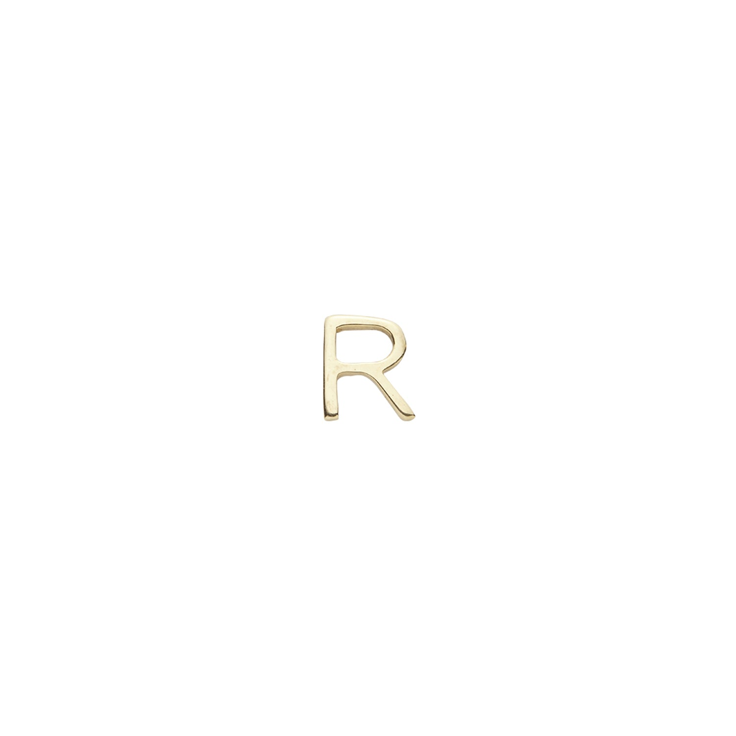 Gold Letter R Charm