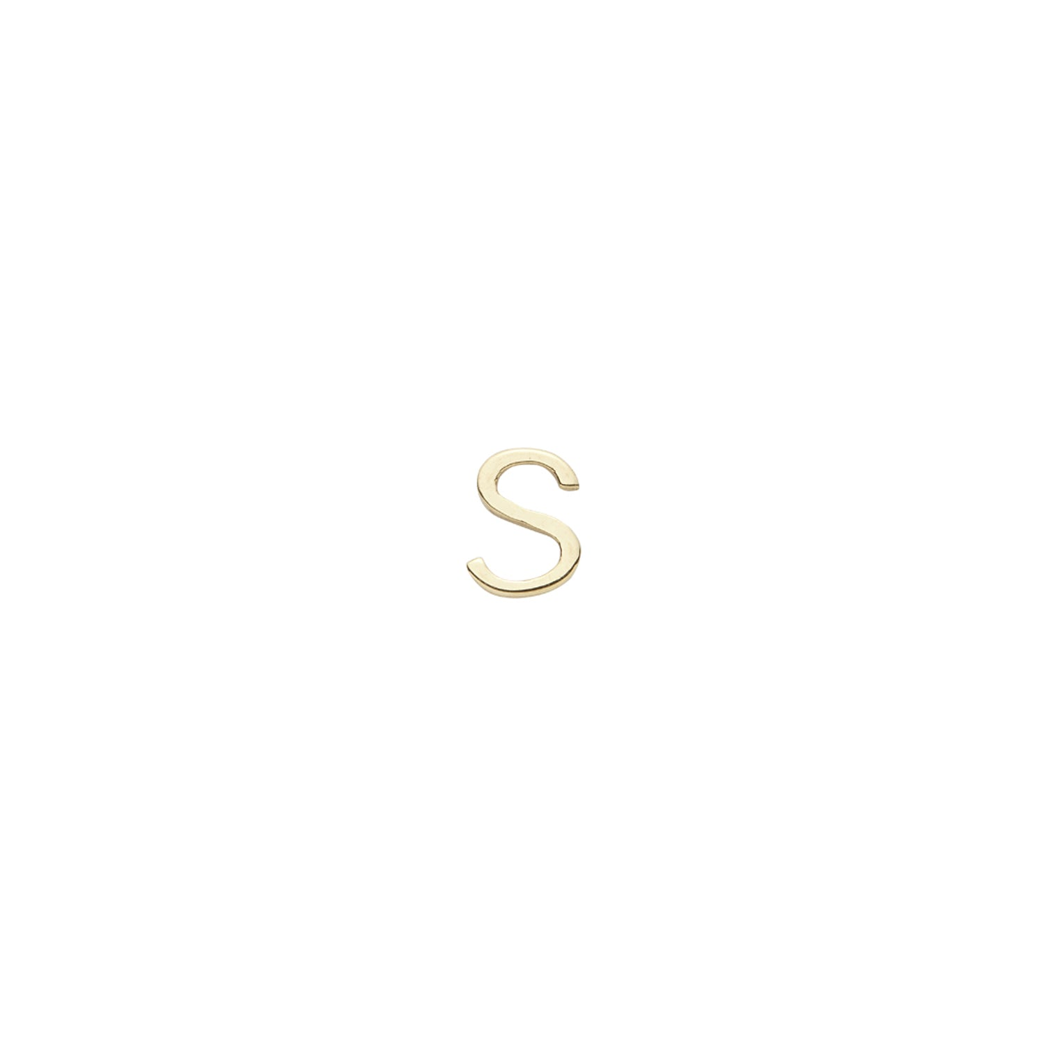 Gold Letter S Charm