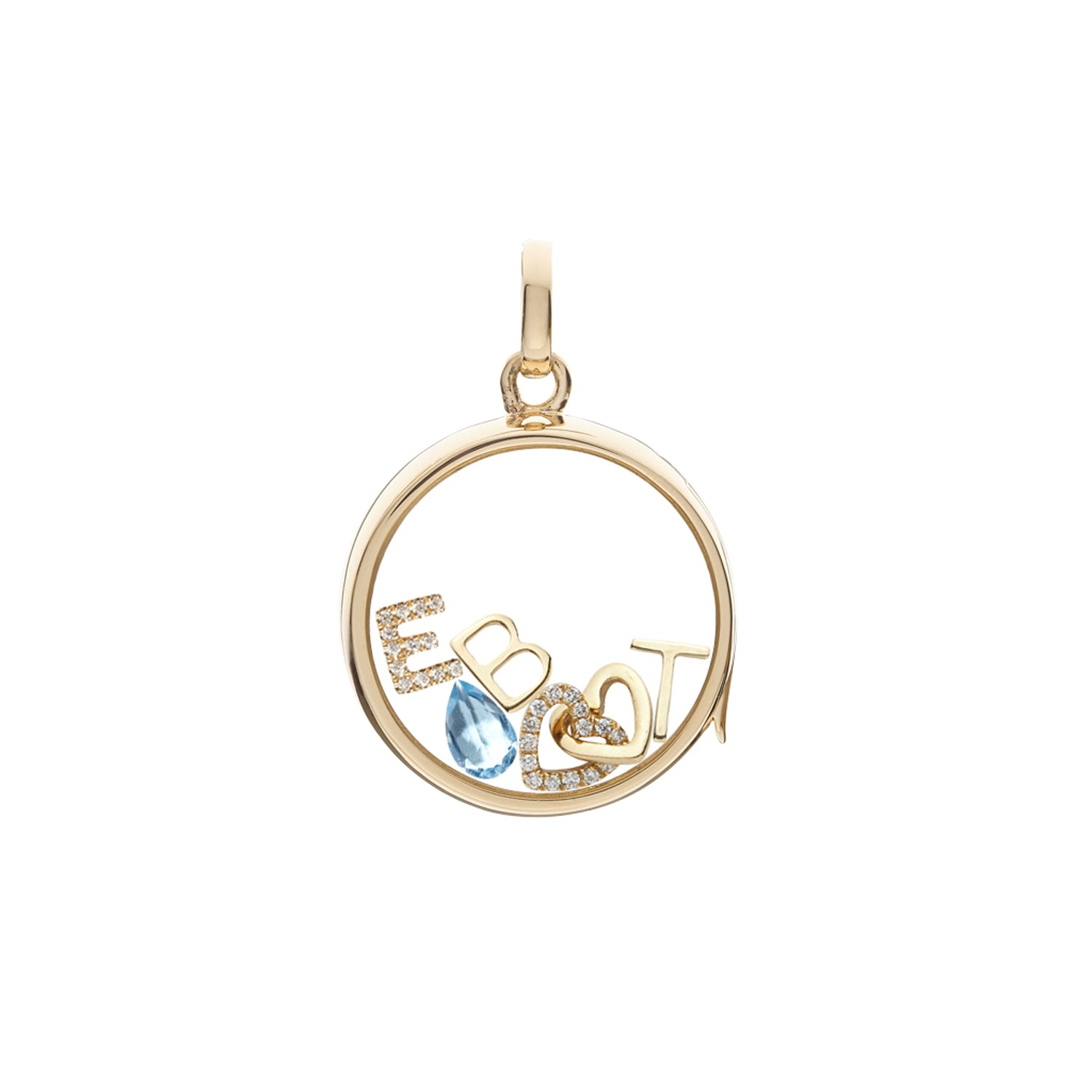 Gold Letter T Charm