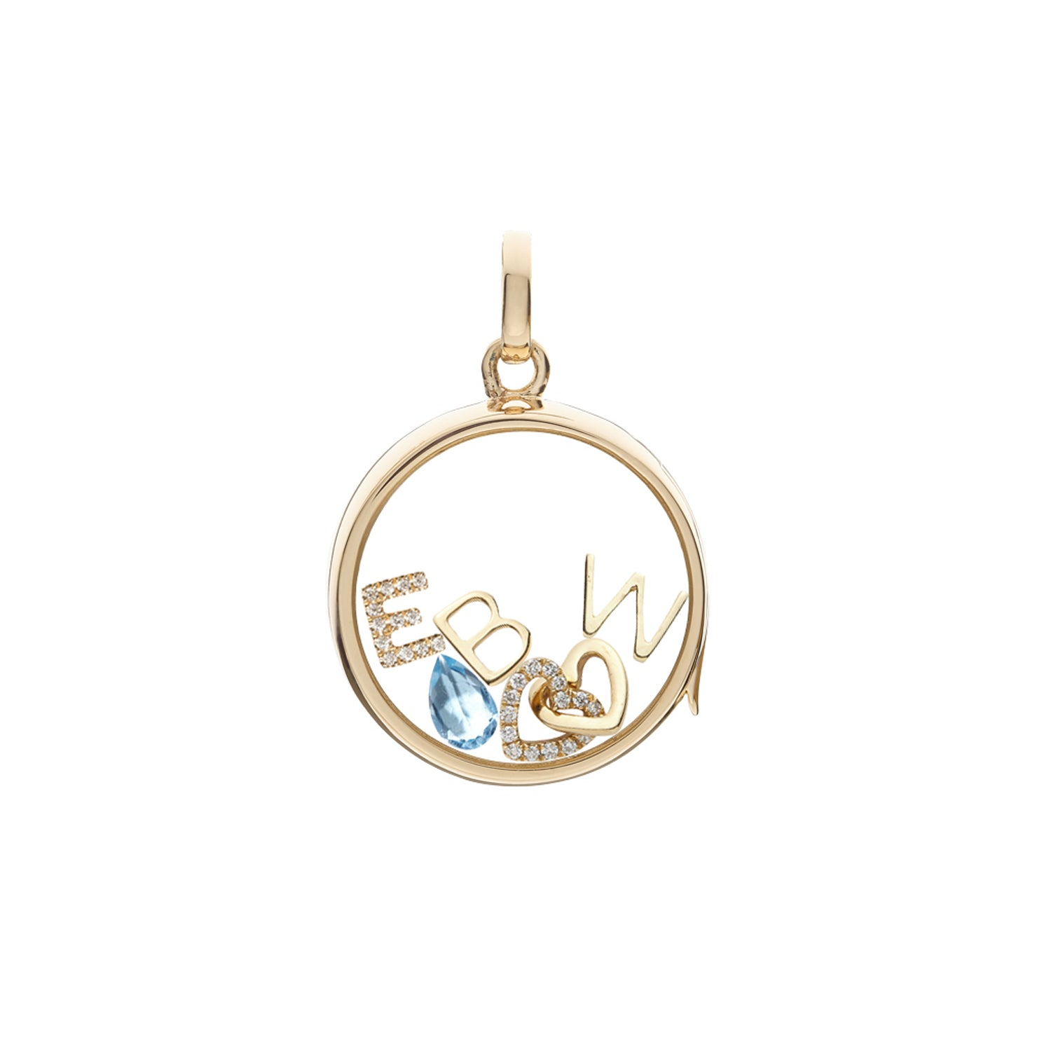 Gold Letter W Charm