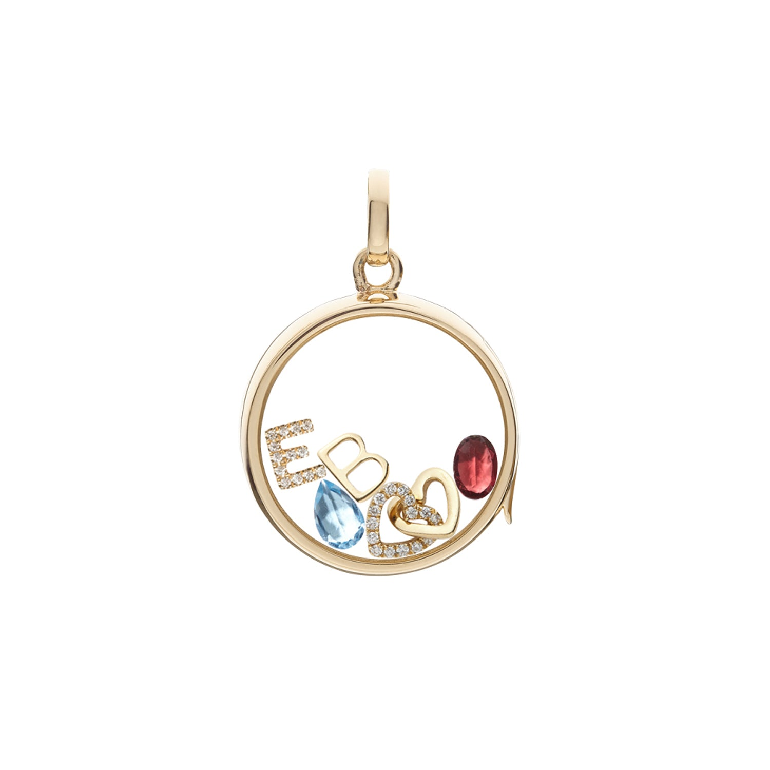 Garnet January Birthstone Charm