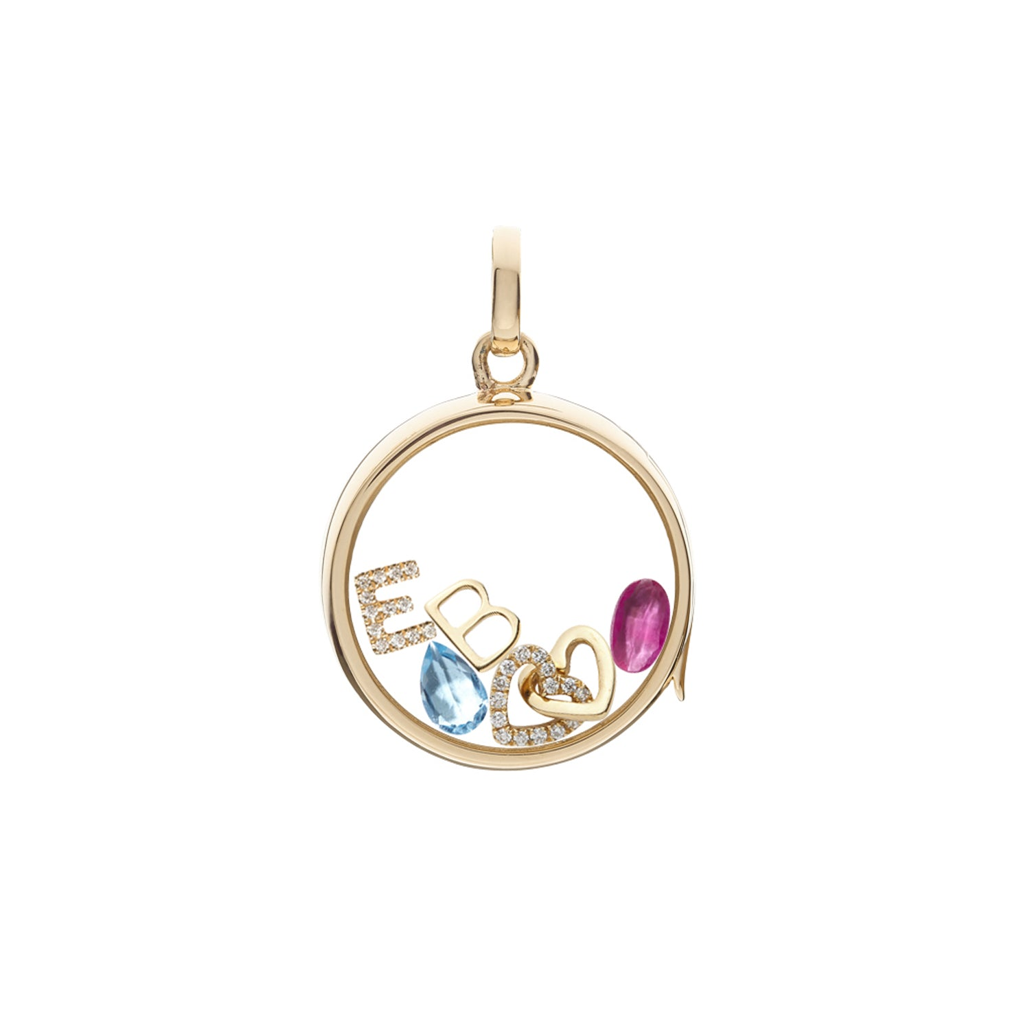 Ruby July Birthstone Charm