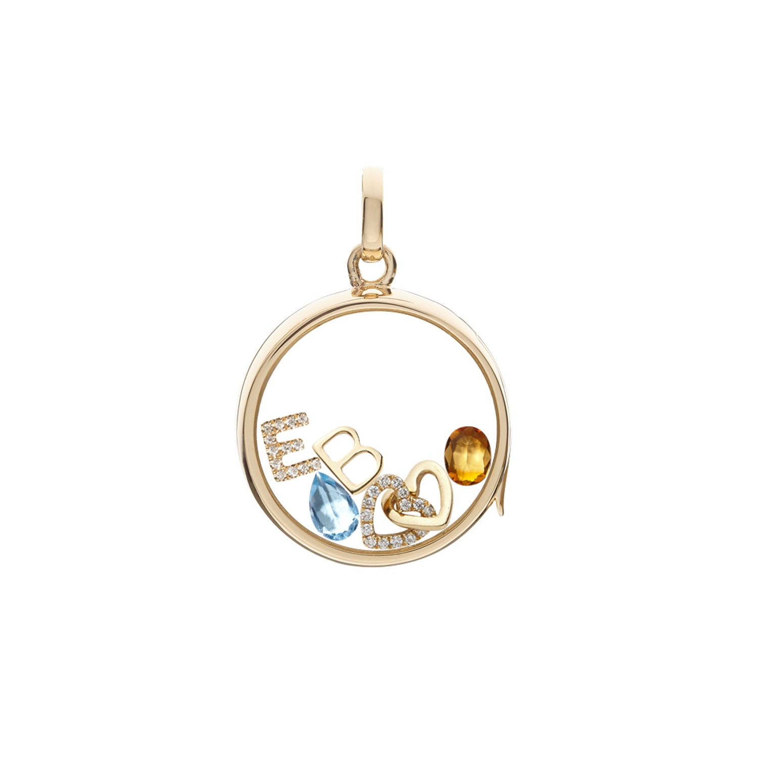 Citrine November Birthstone Charm