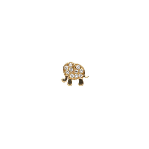Diamond Elephant Charm