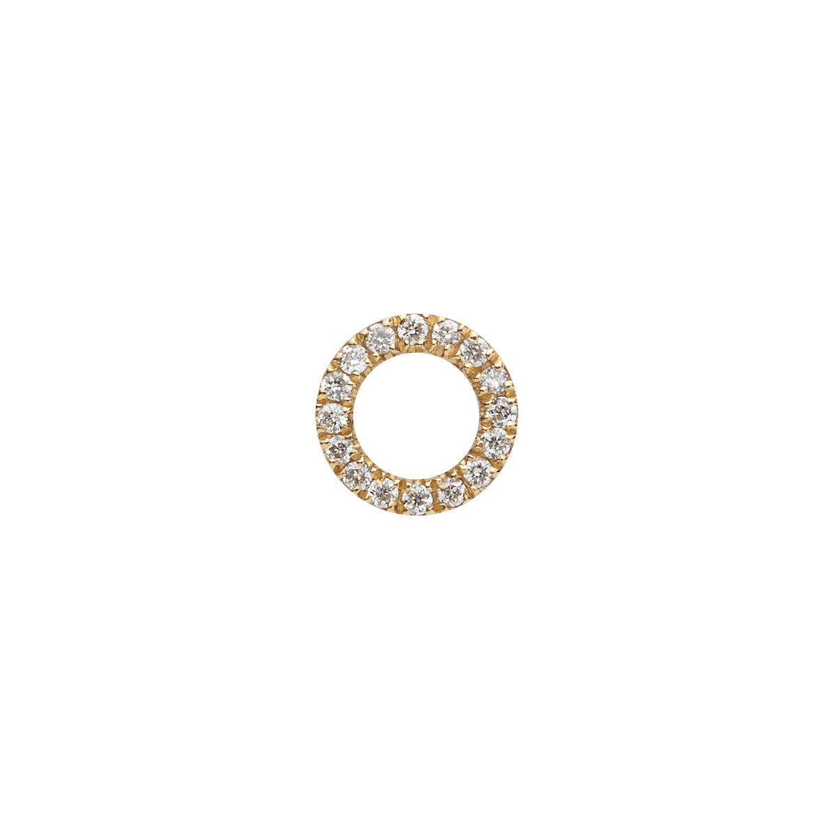 "Diamond ""O"" Hug Stud - Loquet - Earrings 