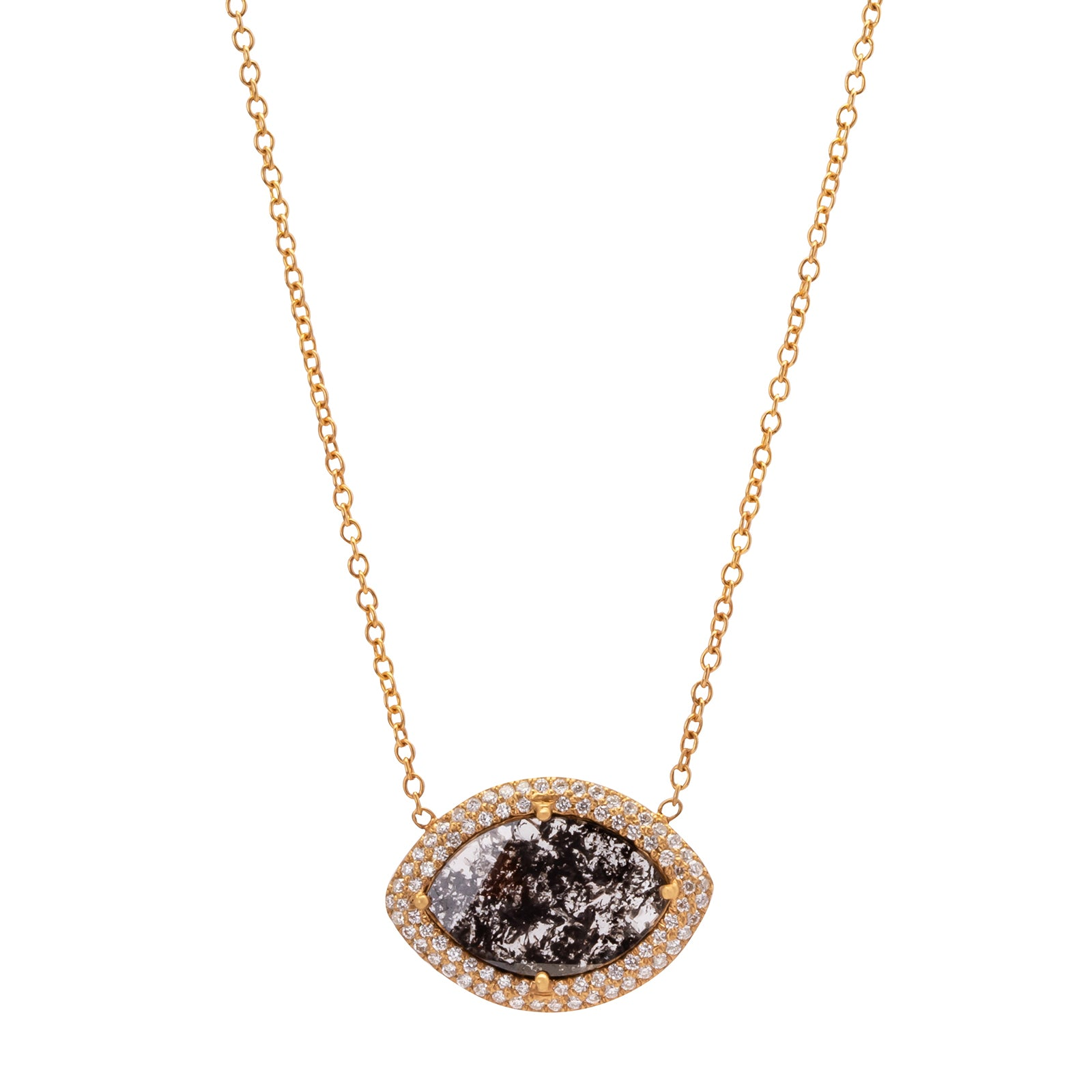 Loriann Stevenson Diamond Eye Necklace - Necklaces - Broken English Jewelry
