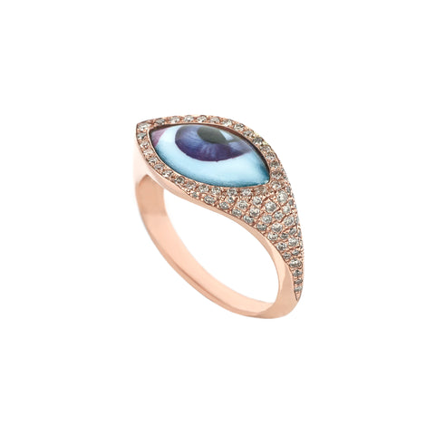 Small Purple Eye Ring - Lito - Ring | Broken English Jewelry