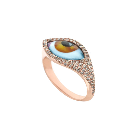 Small Yellow Eye Ring - Lito - Ring | Broken English Jewelry