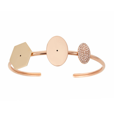 3 Multi Shaped Cuff - Lito - Bracelet | Broken English Jewelry
