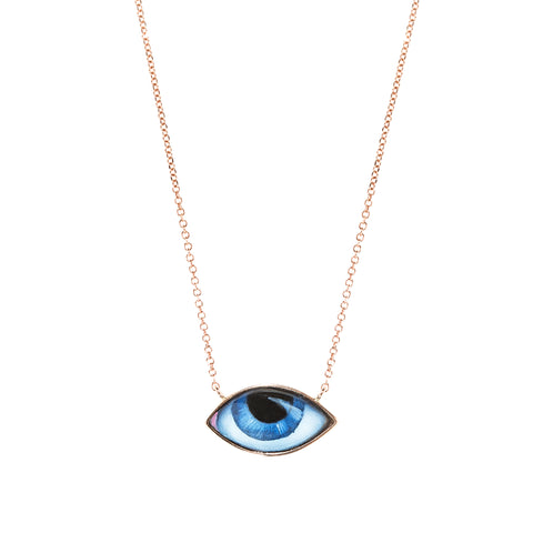Small Blue Eye Necklace - Lito - Necklace | Broken English Jewelry