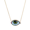 Big Psychedelic Eye Necklace - Lito - Necklace | Broken English Jewelry