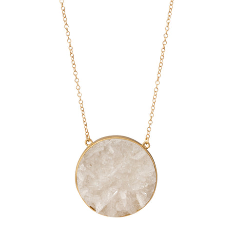 Crystal Drusy Luna Necklace