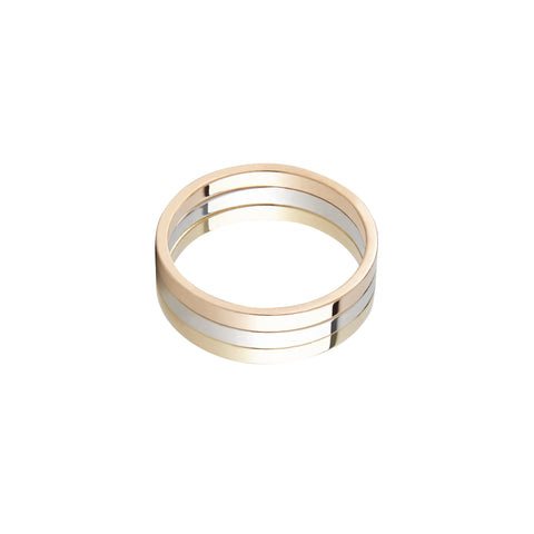 Three-Lane Ring by Lilian von Trapp for Broken English Jewelry