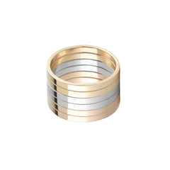 Six-Lane Ring by Lilian von Trapp for Broken English Jewelry