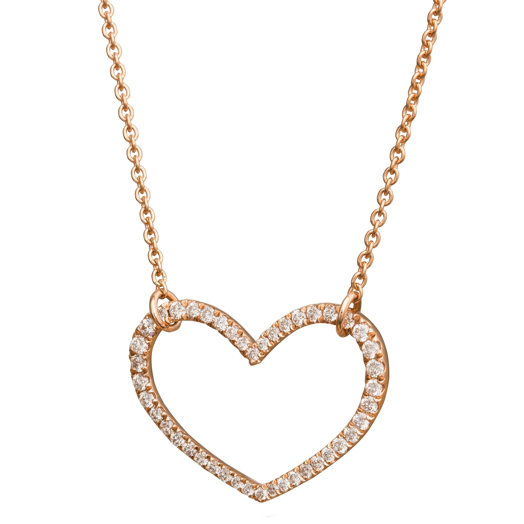 Small Movable Heart Necklace - Rosa de la Cruz - Necklaces | Broken English Jewelry