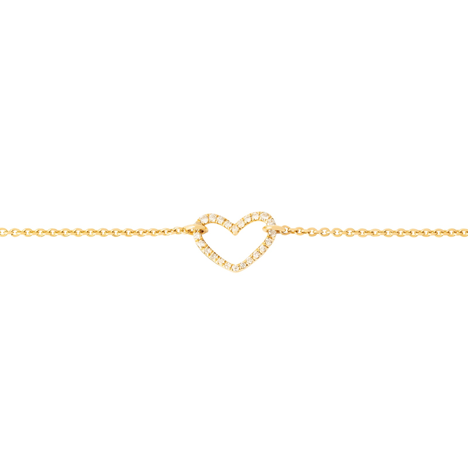 Rosa de la Cruz Heart Charm Bracelet - Yellow Gold - Bracelets - Broken English Jewelry