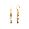 Gol Borneo Diamond Earrings by Lou Zeldis for Broken English Jewelry