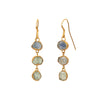 Lou Zeldis Triple Drop Montana Sapphire Earrings - Earrings - Broken English Jewelry