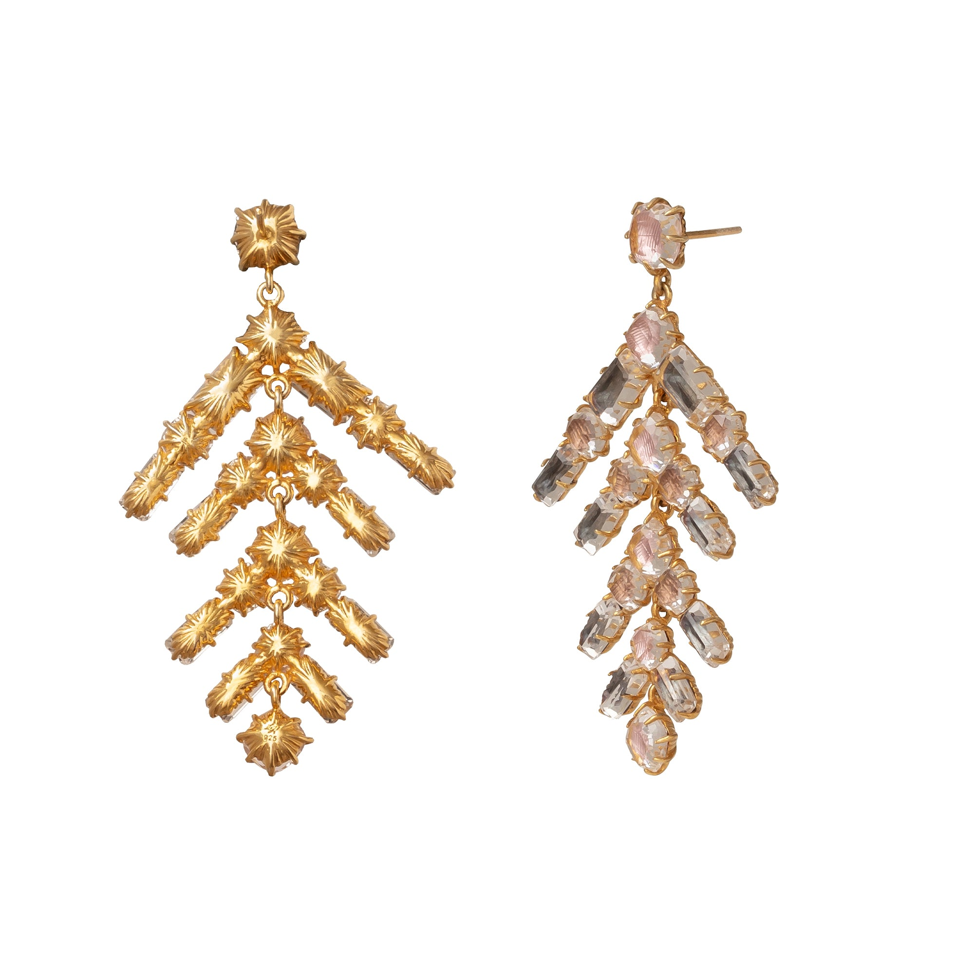 Caterina Multi-Fawn Branch Chandelier Earrings