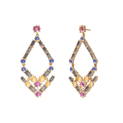 Caterina Trapezoid Chandelier Earrings
