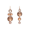 Sadie Mis-Matched Bubble Four Drop Earrings