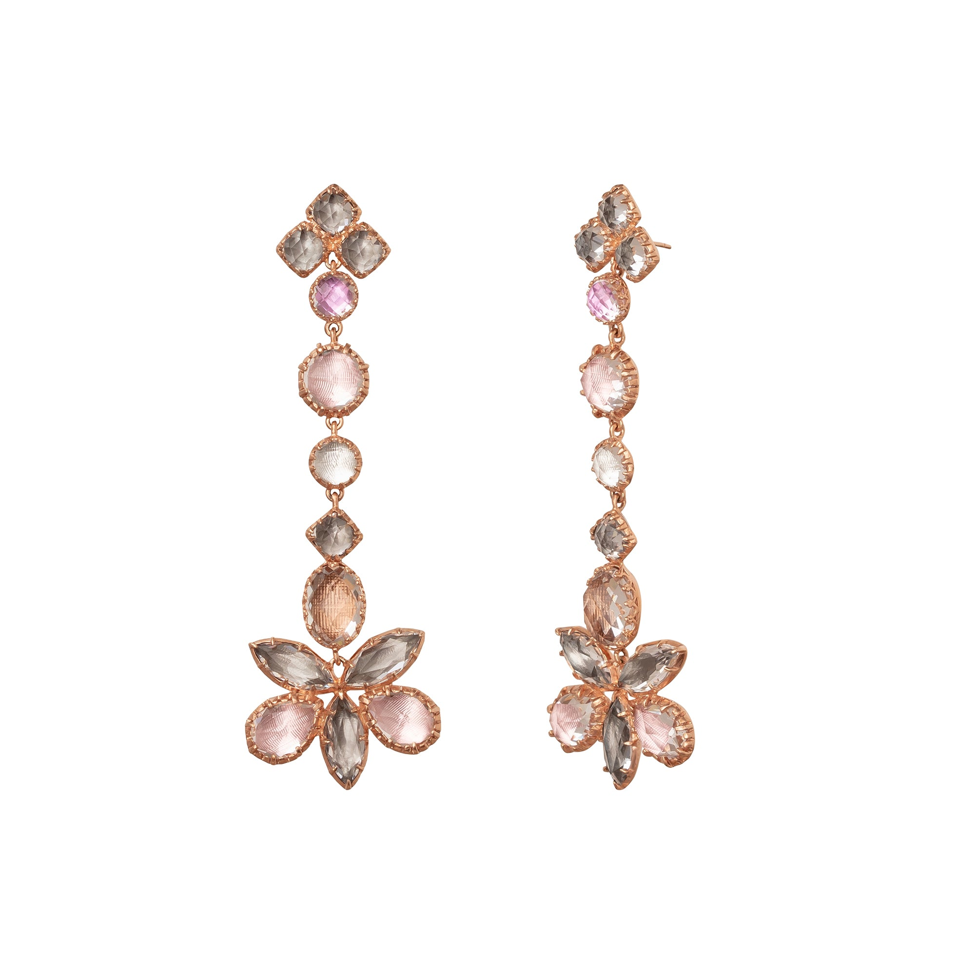 Sadie Shoulder Cluster Earrings